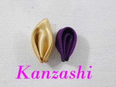 Dois modelos de pétalas  (Kanzashi)