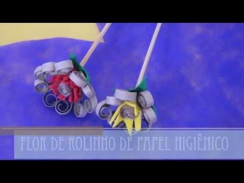 Flor de Rolo de Papel Higiênico #4
