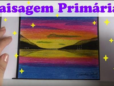 PAISAGEM PRIMÁRIA COM LÁPIS DE COR 1