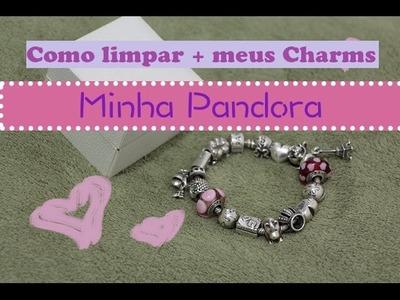 Pandora - como limpo + charms