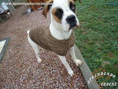 Roupinha de Crochê Cão Boxer