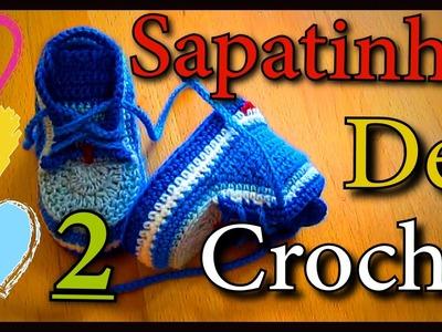 Vitoria Quintal - Vitoria Quintal Sapatinho De Crochê!!! (2.3 Parte) Croche.