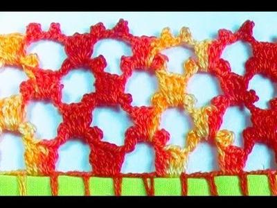Bico em crochê - CROCHÊ 42  - Videoaula 46