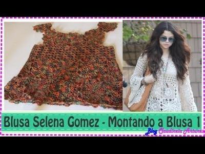Blusa em Croché Selena Gomez - Aula 5 - Montando Corpinho