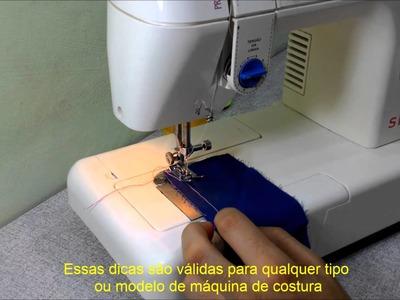 Como deixar a máquina de costura com ponto perfeito e resistente.