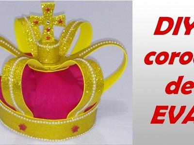 Como fazer coroa de Eva princípe e rei