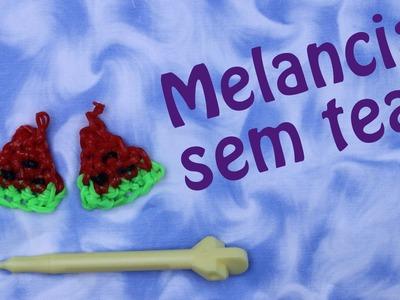 Como Fazer melancia de elásticos sem tear como croche