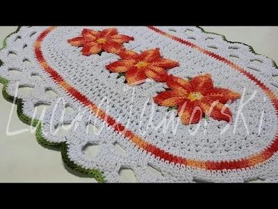 Como fazer um Lindo tapete com a flor estrela do mar passo a passo. Cristina coelho alves