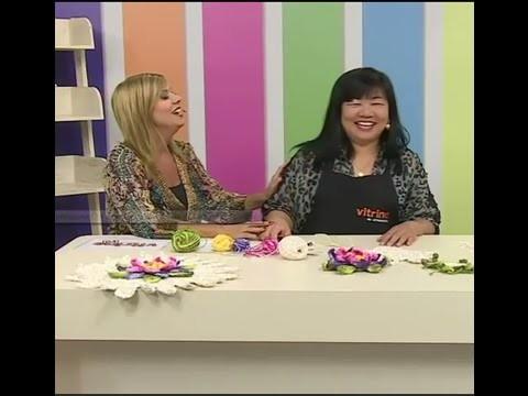 Toalha de mesa com Cristina Luriko e Pintura com Márcia Caires | Vitrine do artesanato na TV