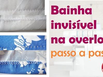 Bainha invisível na overlock: veja como - Especial Overloque Doméstica EP# 7 (DIY Tutorial)