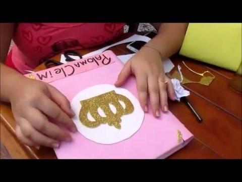 DIY: Caderno Decorado de Coroa