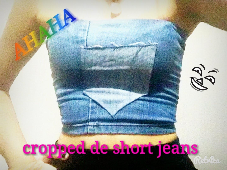 DIY: Cropped Jeans com short