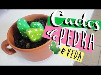 DIY. FAÇA VOCÊ MESMO: CACTOS FEITOS DE PEDRA | VEDA #4 - O Blog da Ka ♥