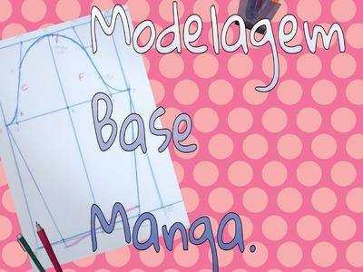 Modelagem Base Manga pra Tecido Plano ou Malha. DIY