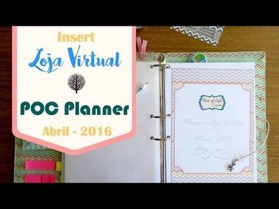 Planner Loja virtual Insert Abril 2016 download DIY tutorial | #POCPlanner
