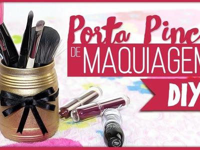 Porta Pincel de Maquiagem =DiY