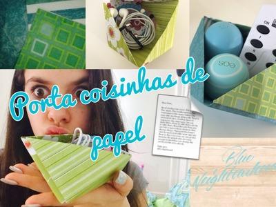 Quick Craft Porta Coisinhas de Papel ~Stephanie Mello!