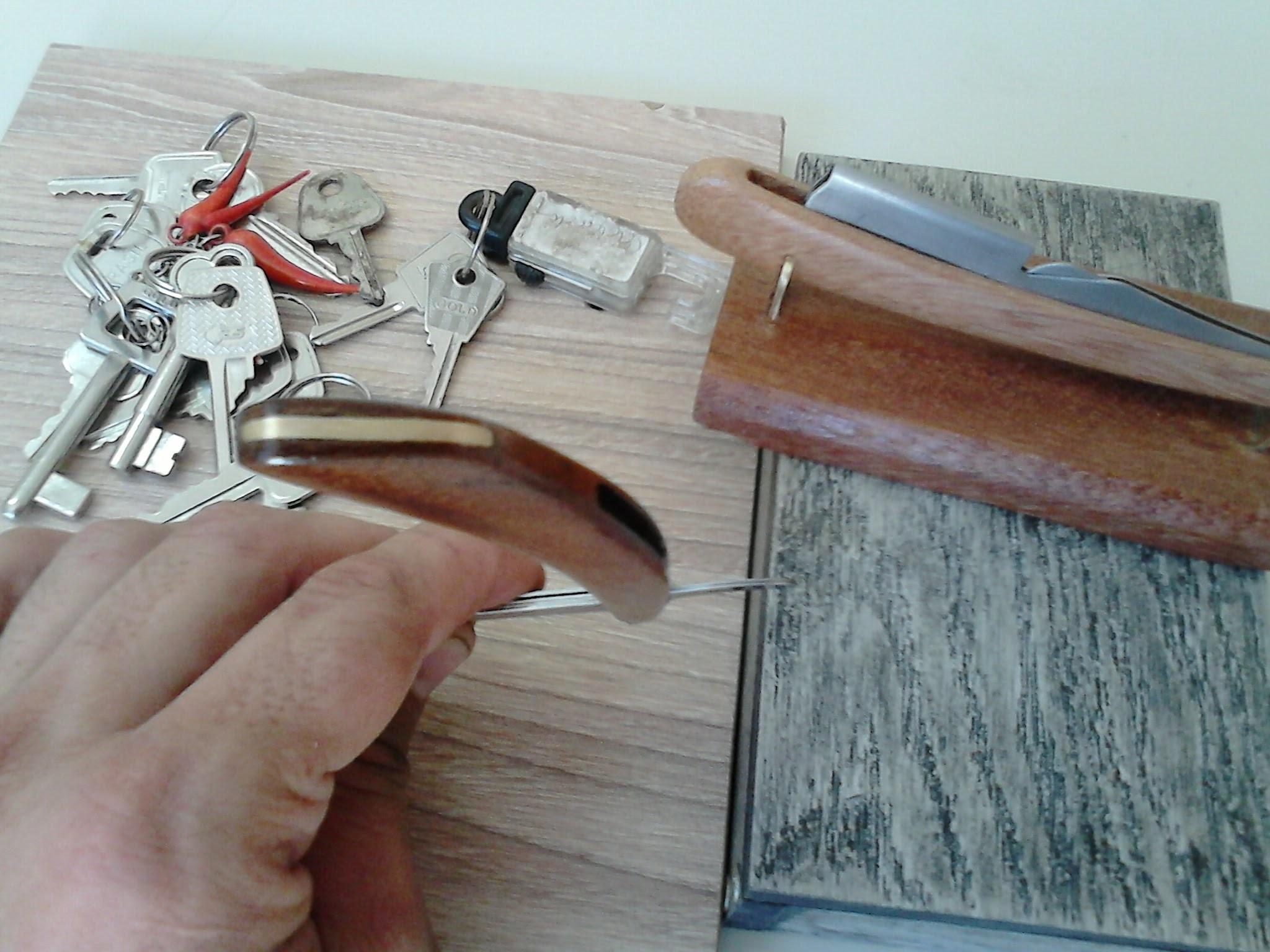 Como Estilizar uma Navalha.   Metal e madeira de reuso. (Diy)