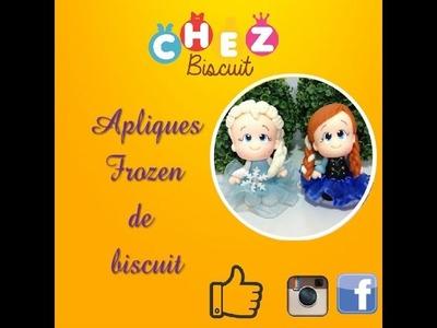 DIy Apliques Frozen de Biscuit