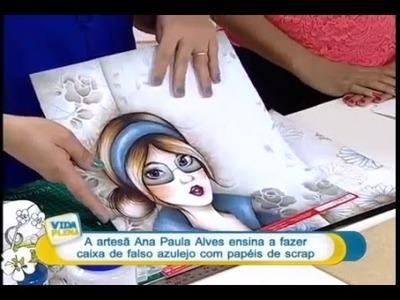 DIY: Faça você mesmo - Falso Azulejo em Scrapdecor - Ana Paula Alves