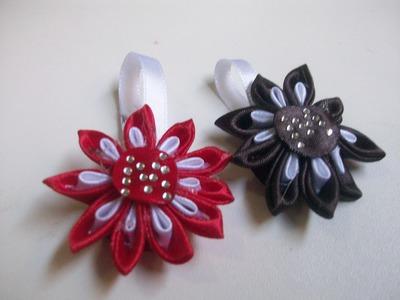 DIY: FLORES JAPONESAS ou FLORES KANZASHI  em chaveiros