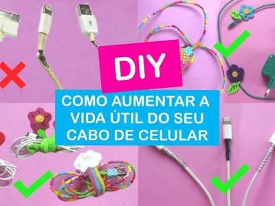 DIY: Como Customizar e Aumentar a Vida Útil do seu Cabo de Celular + DICAS | Vânia Maciel