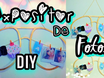 Diy Expositor de Fotos estilo TUMBLR | Tumblr decor| Tatiane Xavier