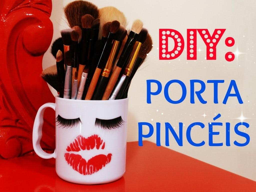 DIY: Caneca Porta Pincéis Super Fofo - By Penteadeira da Ruiva