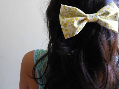 DIY - Laços de tecido para cabelo. Sem costura!