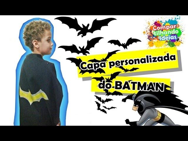 """Faça você mesmo a """"Capa personalizada do Batman"""" com Raphael Henrique   Diy   Tutorial"""