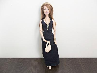 Tutorial: Vestido longo de alça para boneca Barbie - DIY