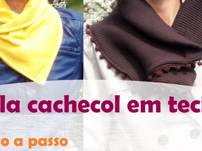 Gola cachecol (Maxi Gola) - Moda Outono.Inverno - passo a passo (DIY Tutorial)