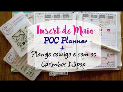 Planner 2016 Maio download DIY tutorial + Plan with me com carimbos Lilipop | #POCPlanner