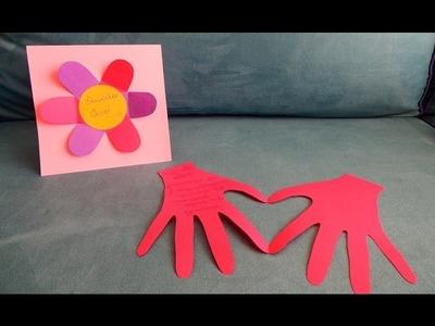 DIY- dia das maes 2. Como fazer cartinhas para mamãe e vovó