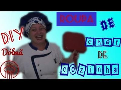 DIY  Dólmã  - ROUPA DE CHEF DE COZINHA