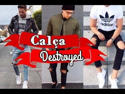 DIY - RASGAR CALÇA JEANS | DESTROYED TUTORIAL
