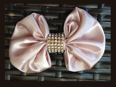 Laço de Fuxico - Passo a passo simples!!! Laço de cetim - DIY Fabric Bow