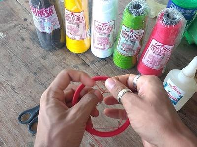 Artesanato na argola da monark (DIY filtro dos sonhos)