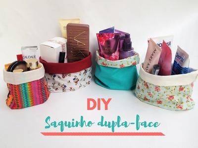 DIY  saquinho dupla - face  - Decor Ative