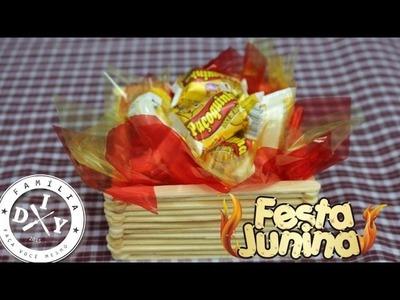 2 - DECORAÇÃO FESTA JUNINA - FOGUEIRA PORTA DOCES - FAMÍLIA DIY