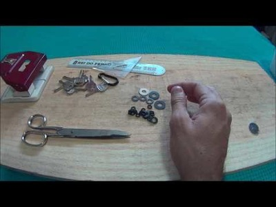 DIY como fazer um key holder swiss army key bar EDC bushcraft