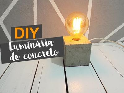 DIY: Luminária de Concreto I INDUSTRIAL