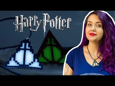 DIY Pixel Art: Colar das Relíquias da Morte que Brilha no Escuro - Harry Potter