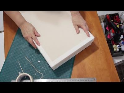 DIY tampa com papel Paraná ✂️ Artesanato