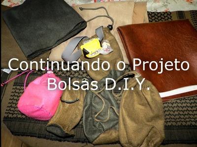 Bolsa D.I.Y. - Continuando o Projeto