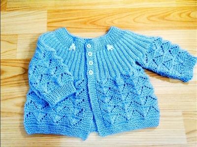 Casaquinho de trico para menino parte 2