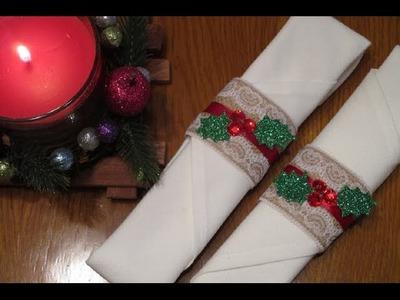 Christmas DIY ♥ Argolas para Guardanapos