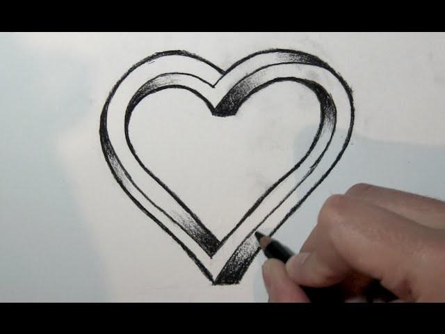 Como Desenhar Um Coração Em 3d Passo A Passo