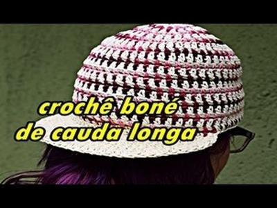 Como fazer boné de cauda longa em crochê | Passo a Passo Iniciantes | Parte 1 | Aprender Croche