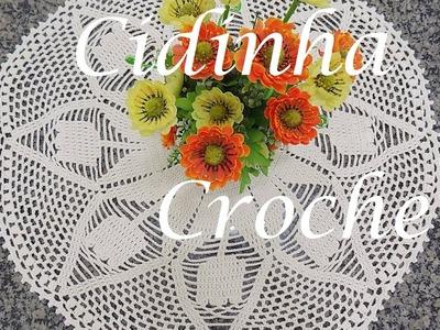 Croche-Toalha De Mesa Tulipas- Passo A Passo-Parte 1.2